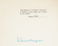 Books:Signed Editions, W. Somerset Maugham. A Writer's Notebook. Melbourne London Toronto: William Heinemann Ltd., [1949]. Limited edition ...