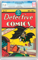 Featured item image of Detective Comics #27 (DC, 1939) CGC FN/VF 7.0 Off-white pages....
