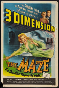 """The Maze (Allied Artists, 1953). One Sheet (27"""" X 41""""). 3-D Style. Horror"""