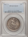 Seated Half Dollars: , 1867-S 50C XF45 PCGS. PCGS Population (7/44). NGC Census: (3/51).Mintage: 1,196,000. Numismedia Wsl. Price for problem fre...