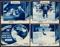 "Snowed In (Pathé, 1926). Title Lobby Card and Lobby Cards (3) (10"" X 12.5"") Chapter Eight--""Thieve..."