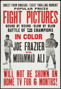 "Movie Posters:Sports, Frazier vs Ali Fight (Cinerama Releasing, 1971). One Sheet (27"" X 41""). Sports.. ..."