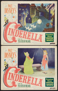 "Movie Posters:Animated, Cinderella (RKO, 1950). Lobby Cards (2) (11"" X 14""). Animated.. ... (Total: 2 Items)"