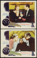 "Movie Posters:Hitchcock, Notorious (Selznick, R-1954). Lobby Cards (2) (11"" X 14"").Hitchcock.. ... (Total: 2 Items)"