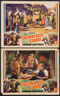 "Movie Posters:Adventure, Custer's Last Stand (Stage and Screen Productions, 1936). LobbyCards (2) (11"" X 14""). Adventure.. ... (Total: 2 Items)"