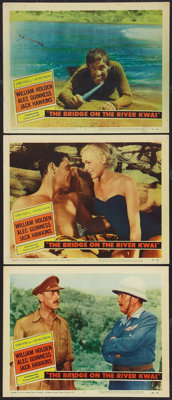 """The Bridge On The River Kwai (Columbia, 1958). Lobby Cards (3) (11"""" X 14""""). War. ... (Total: 3 Items)"""