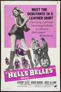 "Movie Posters:Exploitation, Hell's Belles (American International, 1969). One Sheet (27"" X41""). Exploitation.. ..."