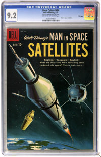 Four Color #954 Man in Space: Satellites - File Copy (Dell, 1959) CGC NM- 9.2 Cream to off-white pages