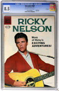 Silver Age (1956-1969):Miscellaneous, Four Color #998 Ricky Nelson - File Copy (Dell, 1959) CGC VF+ 8.5Off-white to white pages....