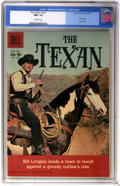 Silver Age (1956-1969):Humor, Four Color #1027 The Texan (#1) (Dell, 1959) CGC NM- 9.2 Off-white pages....