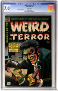 Golden Age (1938-1955):Horror, Weird Terror #9 (Comic Media, 1954) CGC FN/VF 7.0 White pages....