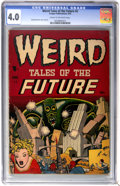 Golden Age (1938-1955):Science Fiction, Weird Tales of the Future #2 (Aragon, 1952) CGC VG 4.0 Cream tooff-white pages....