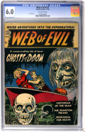 Golden Age (1938-1955):Horror, Web of Evil #1 (Quality, 1952) CGC FN 6.0 Off-white pages....
