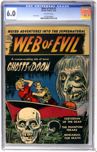 Web of Evil #1 (Quality, 1952) CGC FN 6.0 Off-white pages