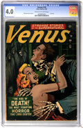 Golden Age (1938-1955):Horror, Venus #19 (Atlas, 1952) CGC VG 4.0 Cream to off-white pages....