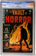 Golden Age (1938-1955):Horror, Vault of Horror #36 (EC, 1954) CGC VF- 7.5 White pages....