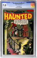 Golden Age (1938-1955):Horror, This Magazine Is Haunted #12 (Fawcett, 1953) CGC FN/VF 7.0 Cream tooff-white pages....
