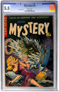 Golden Age (1938-1955):Horror, Mister Mystery #8 (Aragon Magazines, Inc., 1952) CGC FN- 5.5Off-white pages....