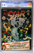 Golden Age (1938-1955):Superhero, All Star Comics #15 (DC, 1943) CGC FN- 5.5 Off-white to white pages....