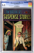 Golden Age (1938-1955):Horror, Lawbreakers Suspense Stories #12 (Charlton, 1953) CGC FN- 5.5 Creamto off-white pages....