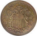 Patterns, 1866 5C Shield Five Cents, Judd-499, Pollock-584, High R.7, PR65Brown NGC....