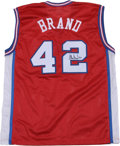 Basketball Collectibles:Others, Elton Brand Signed Jersey. This red Champion size 48 jersey is modeled after the style of those worn on the court by the Lo...