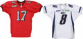 Football Collectibles:Uniforms, 2000-04 Arena Football League Game Worn Jerseys Lot of 2. The Arena Football League has really begun to pick up a lot of mo...