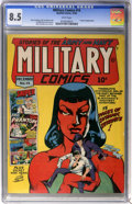 Golden Age (1938-1955):War, Military Comics #14 (Quality, 1942) CGC VF+ 8.5 White pages. ...