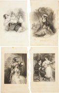 Antiques:Posters & Prints, Eight 19th Century Steel Engraved Illustrations. From TheLadie's Companion, [N.p.: n.d., c. 1850]. 6.25 inches x 9.75i... (Total: 8 Items)