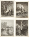 Antiques:Posters & Prints, Gustave Dore. Group of eight engravings from Poems of ThomasHood, published in London: E. Moxon, 1872. Approxim... (Total: 8Items)