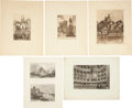 Antiques:Posters & Prints, Nine Engraved or Etched Illustrations of Architecture [Various places, various dates, mostly 18th and 19th century]. Dimensi... (Total: 9 Items)