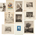 Antiques:Posters & Prints, [Prints and Leaves]. Lot of Thirty Engravings and Prints, variousdates, various sizes. One print is colored by hand. Includ...(Total: 30 Items)