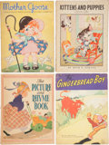 Books:Children's Books, Four Large Illustrated Children's Books. [Including:] MotherGoose. Ruth E. Newton. [and:] Kittens and Puppies....(Total: 4 Items)