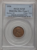 1936 1C Doubled Die Obverse Type One XF45 PCGS. PCGS Population (12/12). NGC Census: (0/0). (#82648) From The Connelly...