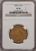 Liberty Eagles: , 1844-O $10 VF20 NGC. NGC Census: (1/320). PCGS Population (1/181).Mintage: 118,700. Numismedia Wsl. Price for problem free...