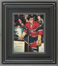 Hockey Collectibles:Photos, Rocket Richard Signed Photograph....