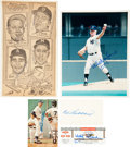 Baseball Collectibles:Others, Major League Hall of Famers Signed Memorabilia Lot of 5....