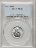 Lincoln Cents: , 1943-D/D 1C MS64 PCGS. PCGS Population (47/67). (#2715). From The Connelly Collection....
