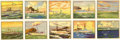 "Non-Sport Cards:Sets, 1930's R20 ""Battleship Gum"" Complete Set (48). ..."