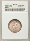 Coins of Hawaii: , 1883 25C Hawaii Quarter MS60 ANACS. NGC Census: (4/721). PCGSPopulation (7/1042). Mintage: 500,000. (#10987)...