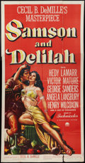 "Movie Posters:Adventure, Samson and Delilah (Paramount, 1949). Three Sheet (41"" X 81"").Adventure.. ..."