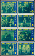 """Movie Posters:Science Fiction, This Island Earth (Universal International, R-1964). Lobby Card Setof 8 (11"""" X 14""""). Science Fiction.. ... (Total: 8 Items)"""