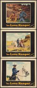 """Movie Posters:Western, The Lone Ranger (Warner Brothers, 1956). Lobby Cards (3) (11"""" X 14""""). Western.. ... (Total: 3 Items)"""