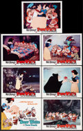 """Movie Posters:Animation, Snow White and the Seven Dwarfs (Buena Vista, R-1967). Title LobbyCard and Lobby Cards (6) (11"""" X 14""""). Animation.. ... (Total: 7Items)"""