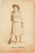 Photography:Cabinet Photos, Annie Oakley: Cabinet Card....