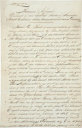 Autographs:U.S. Presidents, [Thomas Jefferson]. Fair Copy of a Land Grant issued toRevolutionary War veteran Peter Helphenstine. Two and one-halfpages...