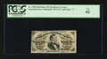 Fractional Currency:Third Issue, Fr. 1298 25¢ Third Issue with Pronounced Bronze Surcharge Shift PCGS New 62.. ...