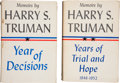 Autographs:U.S. Presidents, Harry S. Truman: Inscribed Copy of Memoirs by Harry S. Truman.Vol. 1 and 2. Garden City, NY: Doubleday & Compan...(Total: 2 Items)