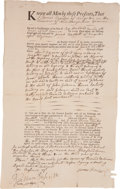 "Autographs:Statesmen, Josiah Bartlett Autograph Land Deed Signed. One partially-printedpage, 8"" x 13"", Kingston, New Hampshire, March 17, 1763. I..."