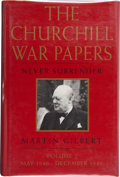 Books:Signed Editions, Martin Gilbert. The Churchill War Papers. Volume II. Never Surrender. May 1940 - December 1940. New York London:...